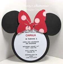 Free Mickey Mouse Baby Shower Invitation Templates - free minnie mouse 1st birthday invitations template minnie mouse