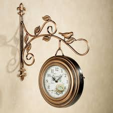 Decorative Metal Wall Clocks Magnificent Ideas Hanging Wall Clock Nice Idea Kenway Two Sided
