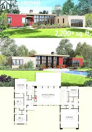 image of new modern house plans for sloped lots open floor cool