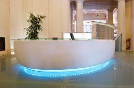 Rounded Reception Desk Curved Modern Reception Desk Thediapercake Home Trend