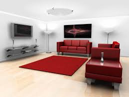 red scheme living room with wall mounted tv idea attractive wall