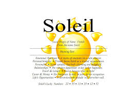 soleil name means sun nydob com