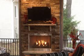 Screen Porch Fireplace by Outdoor Fireplace Archadeck Of Kansas City