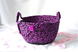 Zebra Desk Accessories Lovely Violet Basket Handmade Clothesline Basket Black And