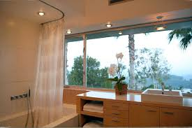 Bathroom Shower Rods Ceiling Mount Shower Curtain Rod Bathroom Transitional With