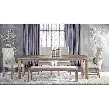 Dining Set With Bench Orient Express Furniture Traditions Hudson Stone Wash Rectangular