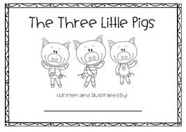 pigs story writing activity dotted lines