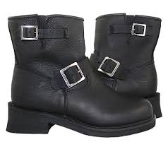 short black motorcycle boots xelement women s advanced short black engineer boots leatherup com