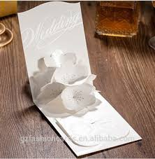 pop up wedding invitations pearlised screen printing pop up flower 3d wedding invitations
