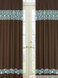 Orange Panel Curtains Turquoise And Brown Living Room Curtains Designer Curtain Panel