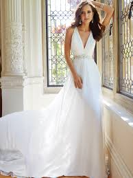 chapel wedding dresses sleeveless chiffon wedding dress with chapel
