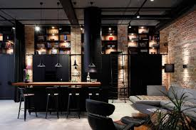 Industrial Home Interior Design Apartment Uv Goes Modern Industrial Using Exposed Metal Brick And