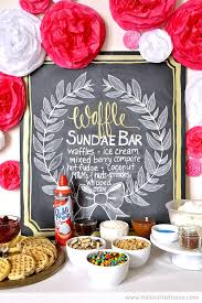 sundae bar toppings waffle ice cream sundae bar hello little home