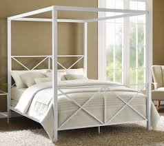 Four Post Canopy Bed Frame Dhp Furniture Rosedale Metal Canopy Bed