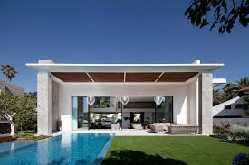 Narrow House Designs by Wonderful White Blue Wood Modern Design Houses Pool Inside Ideas