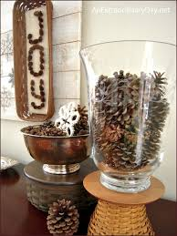 pine cones and snowflakes winter decor the week at a glance 1