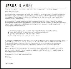 airline manager cover letter sample livecareer