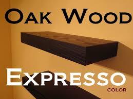 Espresso Floating Shelves by 24 U2033 Floating Shelves Oak Wood Espresso Color Free Shipping Set Of