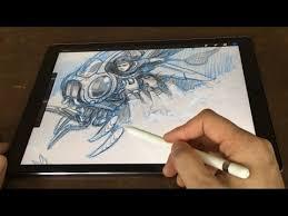 ipad pro 12 9 u0026 pencil artist review vs cintiq companion youtube