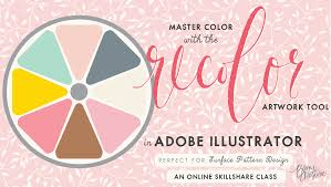 a new class master color with the recolor artwork tool in adobe