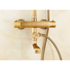 Outdoor Shower Fixtures Copper - copper brushed exposed outdoor shower faucets thermostatic