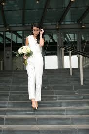white jumpsuit wedding white wedding jumpsuit for city azazie