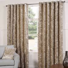 Living Room Curtains On Ebay Pair Of Gold Crushed Velvet Eyelet Top Fully Lined Ready Made