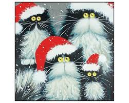 cat christmas cards cat charity cards