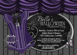 halloween bachelorette party gothic bachelorette invitation