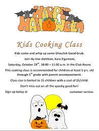 hyvee u0027s 2017 halloween kids cooking class muscatine community