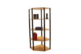 Sauder Five Shelf Bookcase by Corner 5 Shelf Open Bookcase Beech Walmart Com