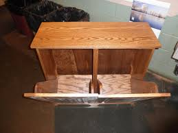 custom made 2 bin trash recycling cabinet by joey u0027s custom