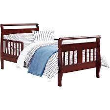 walmart toddler beds baby relax sleigh toddler bed cherry walmart com