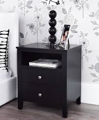 brooklyn black bedroom furniture bedside table large chest of