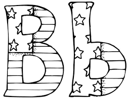 letter b coloring pages paginone biz