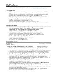 Professional Profile Resume Examples Example Resume Medical Device Sales Augustais