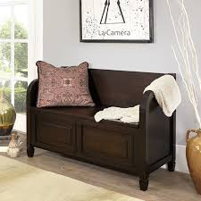 amazon com simpli home connaught entryway storage bench dark