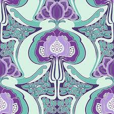blue kaleidoscope wallpaper surface printed non woven wallpaper art nouveau floral pattern