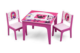 Minnie Mouse Chairs For Kids Amazon Com Delta Children Deluxe Table U0026 Chair Set With Storage