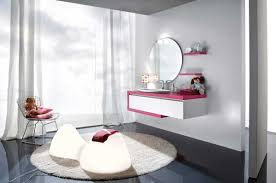 Black And Pink Bathroom Ideas by Girls Bathroom Ideas With Pink And White Wallmounted Cabinet