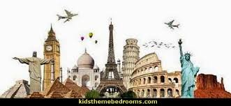 Around The World Themed Decorating Theme Bedrooms Maries Manor Travel Theme Decorating