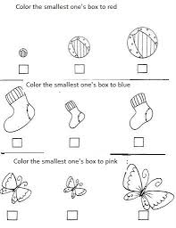 kindergarten activities big and small impressive big and small worksheets for preschool with crafts
