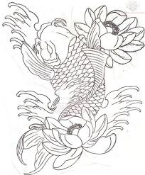 39 best koi fish tattoo outlines images on pinterest tattoo