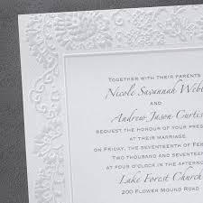 embossed wedding invitations lace embossed border wedding invitations flamingo