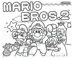 free mario bros coloring pages printable super star