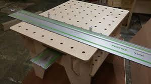 portable track saw table festool makita dewalt track saw portable birch plywood workbench