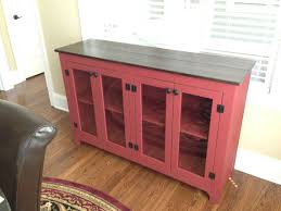 painted buffet red sideboard large buffet credenza