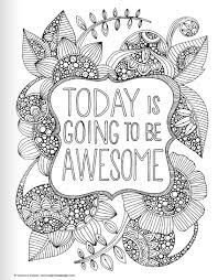 coloring pages with positive quotes coloring page