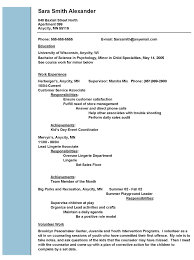Resume Format Event Management Jobs by Resume Social Work Resume Template