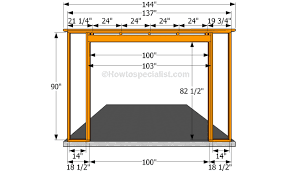 building the front wall sheds and garage plans pinterest